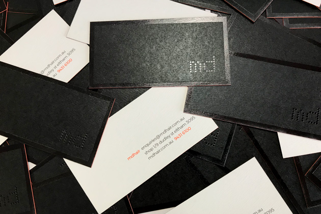 Md hair juggler design simple elegant and edgy business cards colourmoves