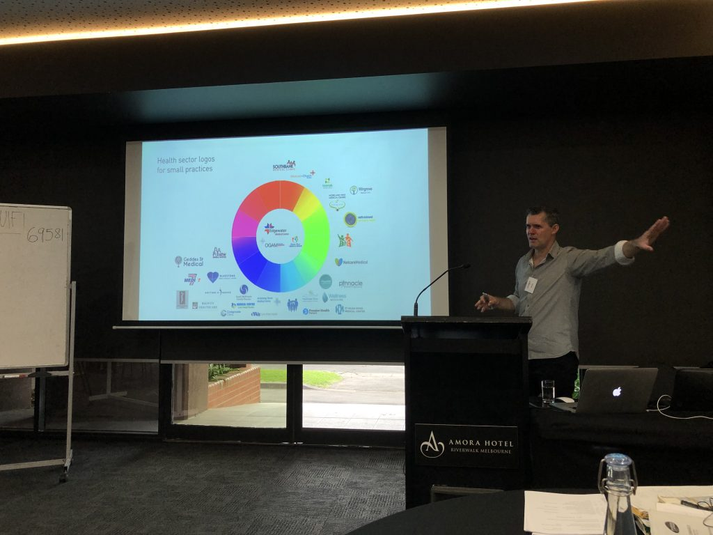 Australian Dental Logos Colour Groupings Dental Mastery Conference Melbourne Branding and Digital Marketing Presentaion by Gregor Sandie Local SEO Exper